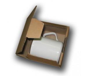 Stuksdoosje bruin karton (blanco)