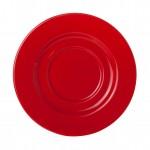 Eva Koffie Schotel rood-roomwit 14 cm