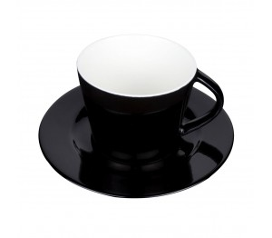 Eva Koffie Kop zwart-roomwit 20 cl.