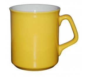 Mok Ilse geel-wit 25 cl.