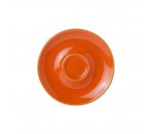 Bola Espresso Schotel oranje-roomwit 12,5 cm