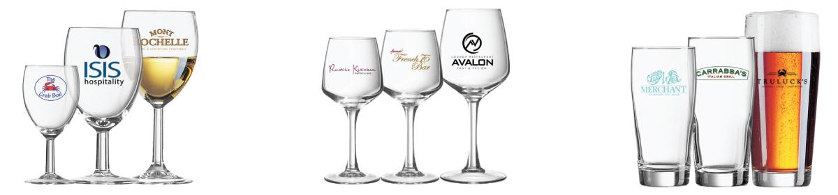 drinkglazen bedrukken met eigen logo? Laat ons uw logo op een van onze vele drinkglazen, borrelglazen, wijnglazen, bierglazen of frisdrank glazen bedrukken